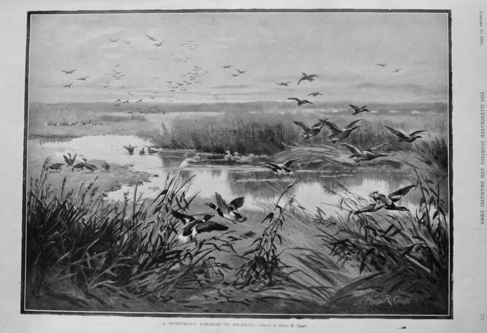 A Sportsman's Paradise- in Rhodesia.  1903.