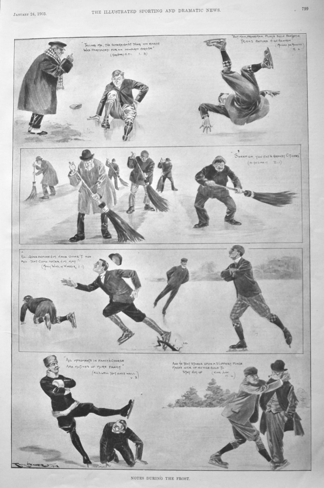Notes During the Frost.  (Skating).  1903.