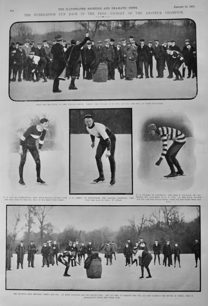The Duddleston Cup Race in the Fens.- Victory of the Amateur Champion.  1903.