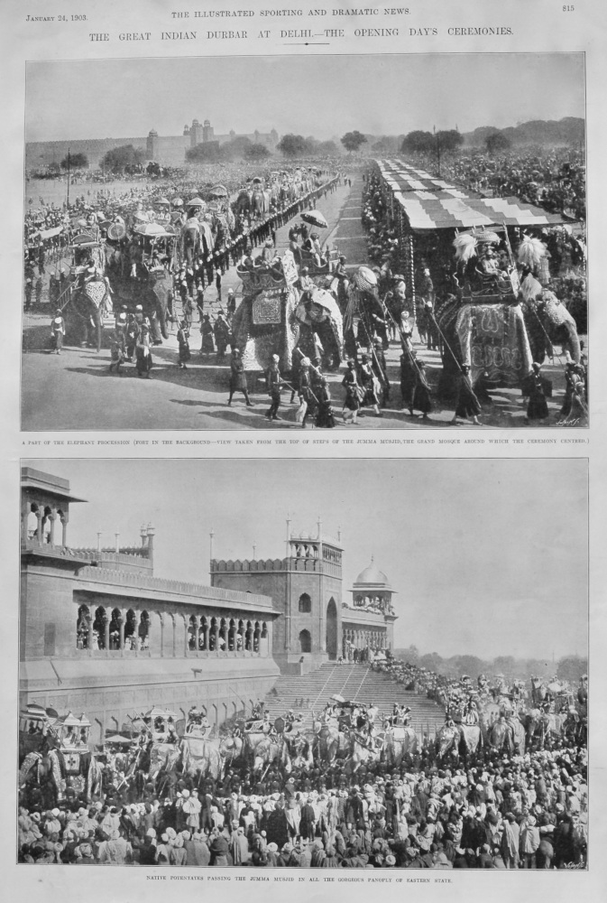 The Great Indian Durbar at Delhi.-The Opening Day's Ceremonies.  1903.