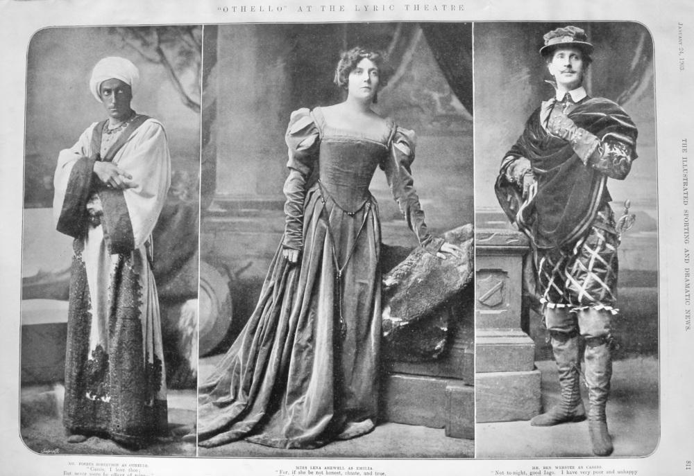 """""""Othello"""" at the Lyric Theatre.  1903."""