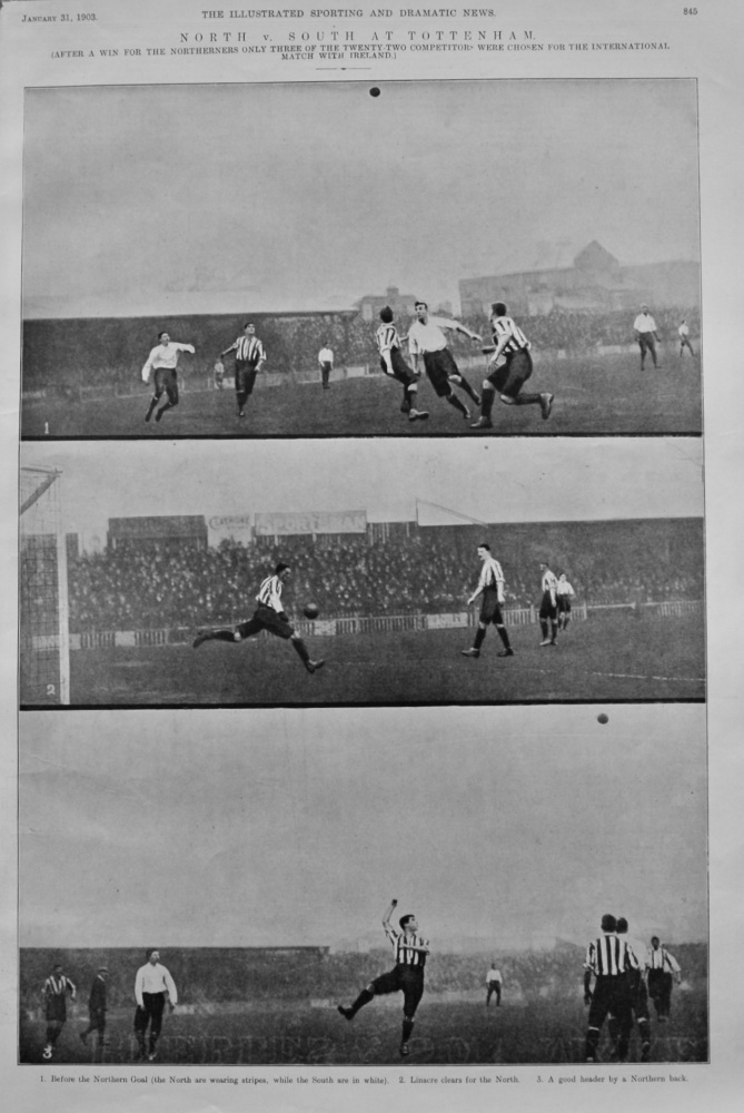 North v. South at Tottenham. 1903.