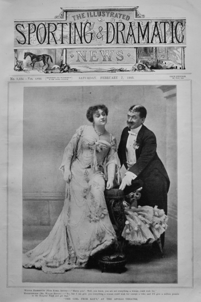 """""""The Girl from kay's,"""" at the Apollo Theatre.  1903."""