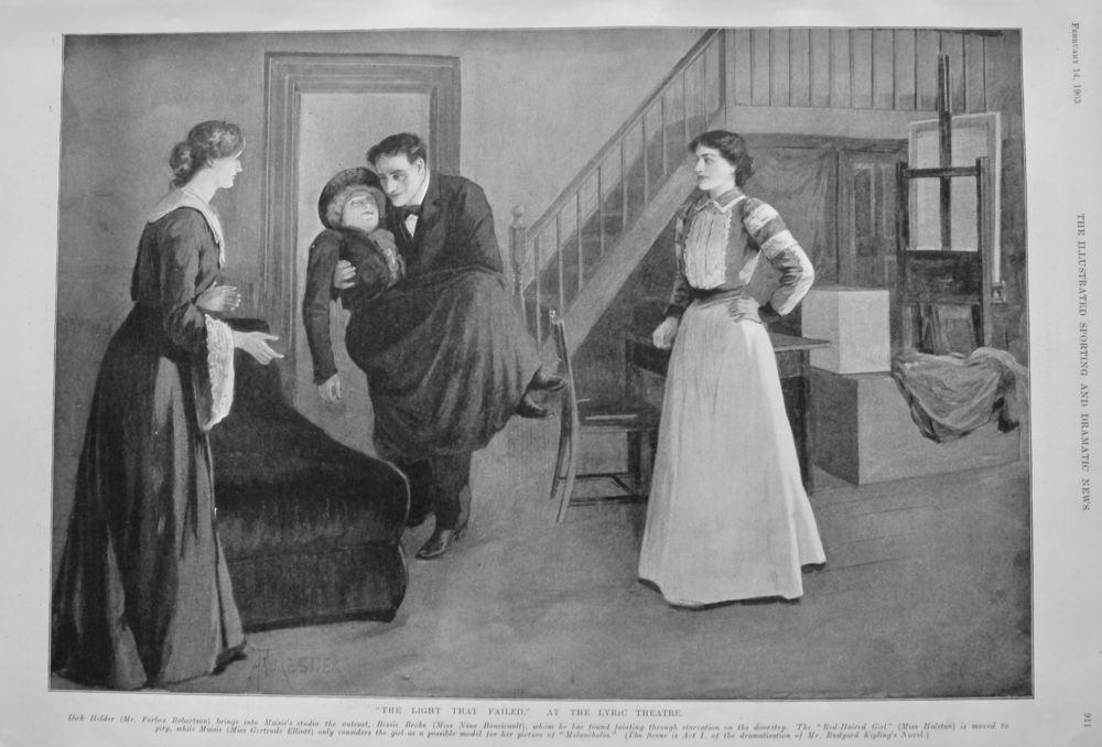 """""""The Light That Failed,"""" at the Lyric Theatre.  1903."""