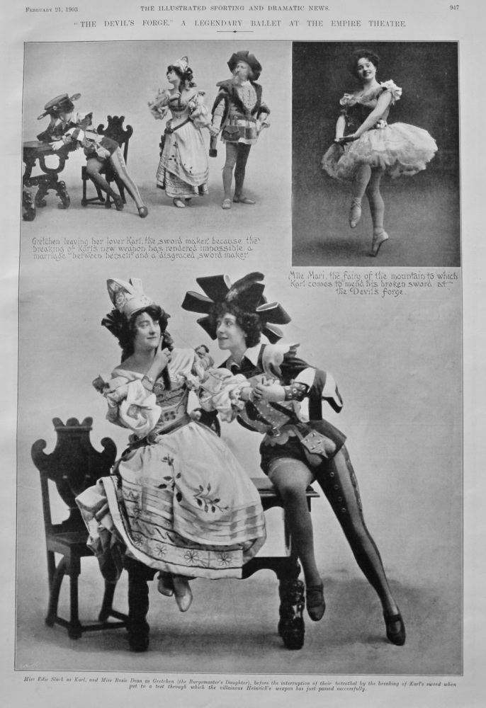 """""""The Devil's Forge."""" A Legendary Ballet at the Empire Theatre.  1903."""