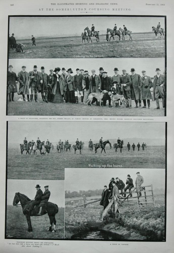 At the Somerleyton Coursing Meeting.  1903.