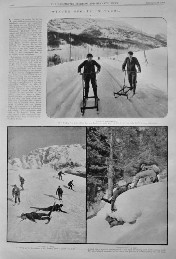 Winter Sports in Tyrol.  1903.