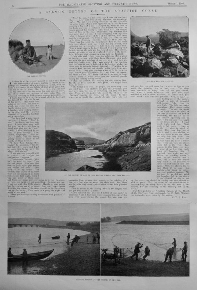 A Salmon Netter on the Scottish Coast.  1903.