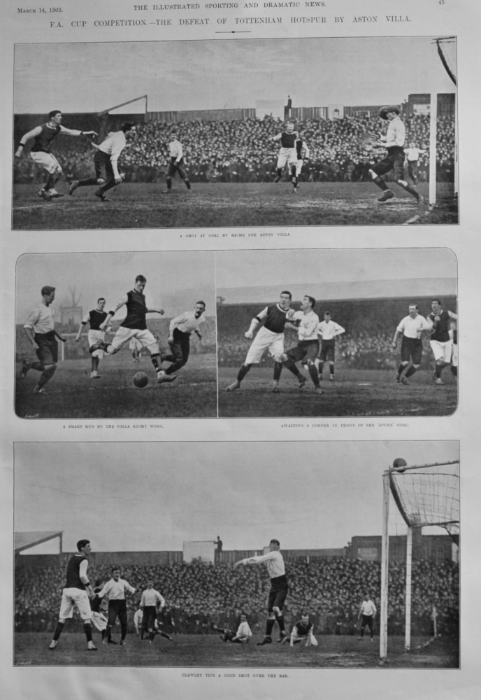F.A. Cup Competition.- The Defeat of Tottenham Hotspur by Aston Villa.  1903.