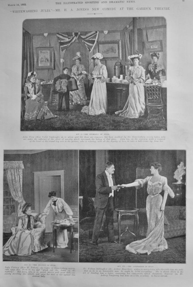 """Whitewashing Julia.""- Mr. H. A. Jones's New Comedy at the Garrick Theatre.  1903."