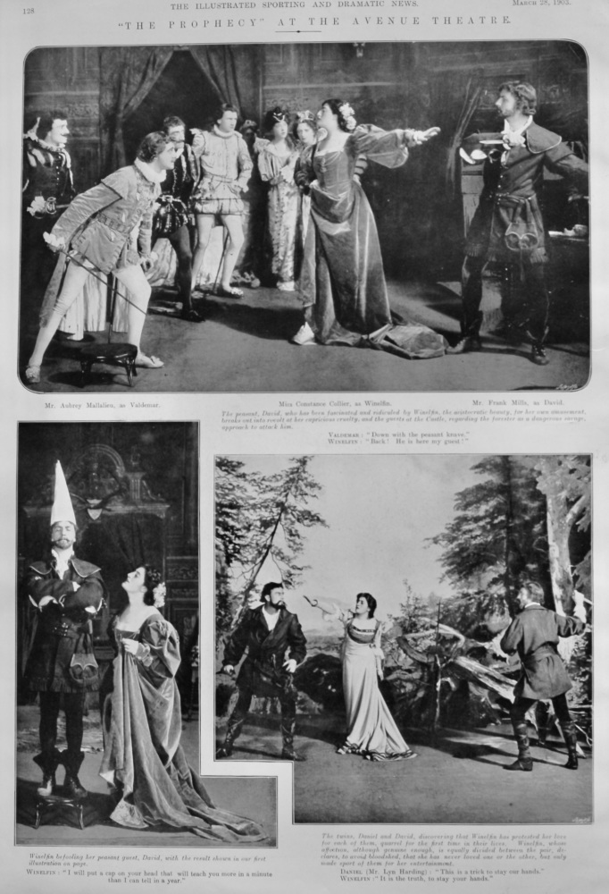 """""""The Prophecy"""" at the Avenue Theatre.  1903."""