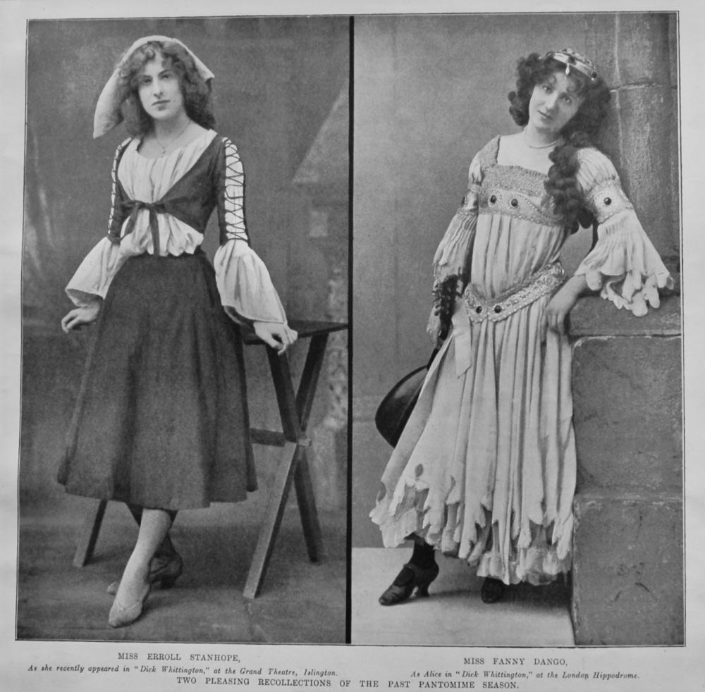 Miss Erroll Stanhope.  Miss Fanny Dango.  1903.  (Pantomime)