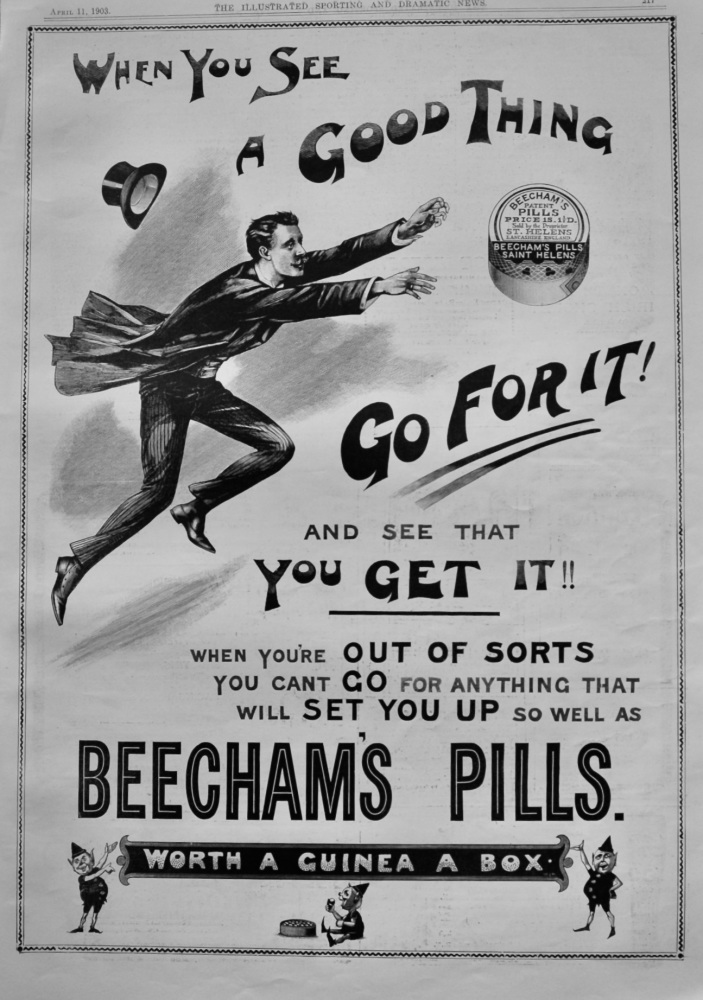 Beecham's Pills.  April 11th, 1903.
