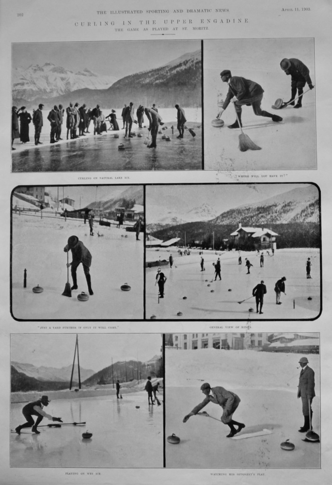 Curling in the Upper Engadine. : The Game as Played at St. Moritz.  1903.
