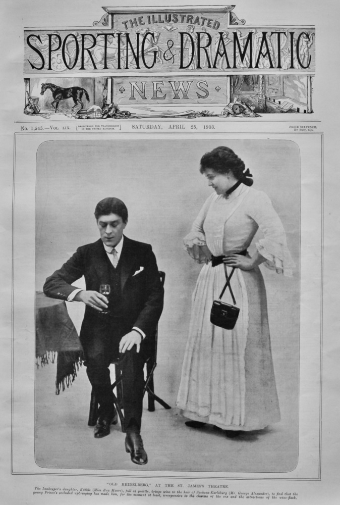 """Old Heidelberg."" at the St. James's Theatre.  1903."
