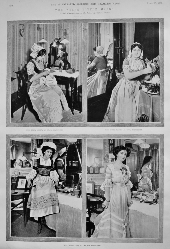 The Three Little Maids.  (In their dressing-rooms at the Prince of Wales's Theatre.)  1903.