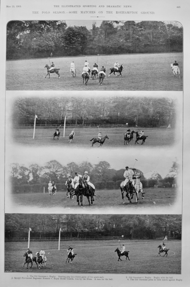 The Polo Season.- Some Matches on the Roehampton Ground. 1903.