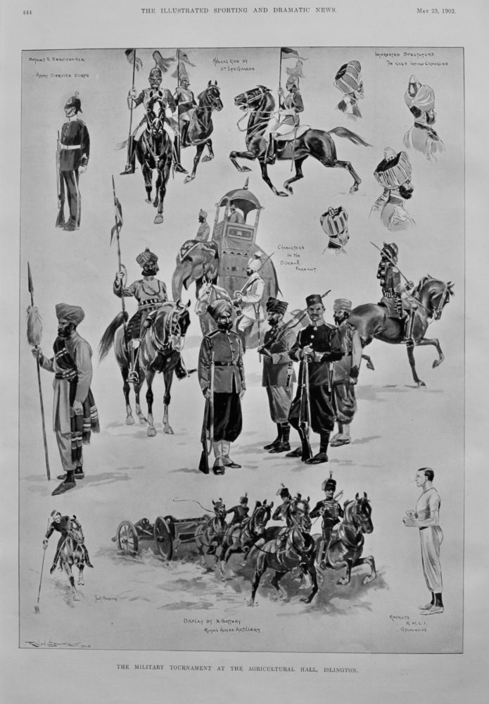 The Military Tournament at the Agricultural Hall, Islington.  1903.