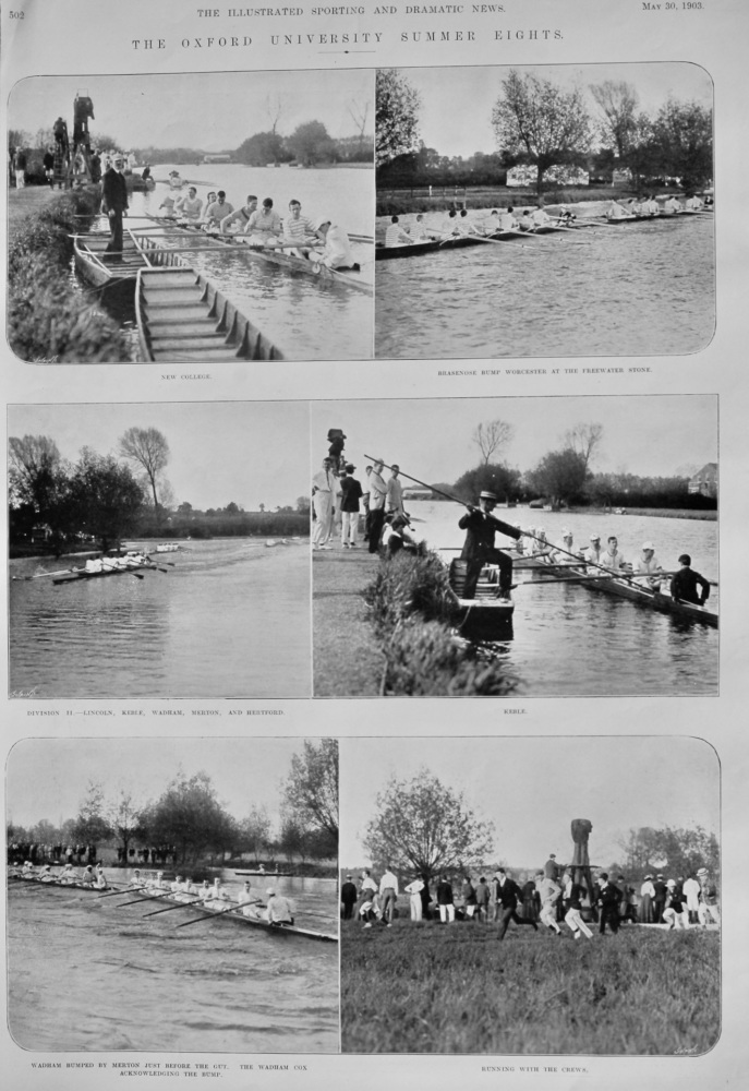 The Oxford University Summer Eights.  1903.