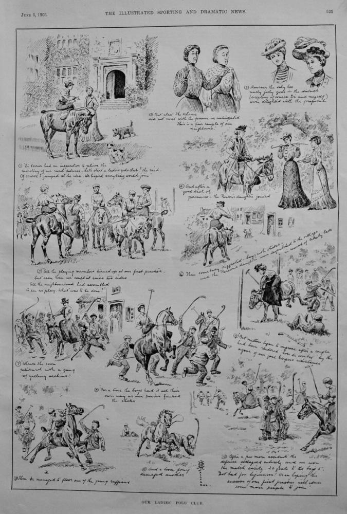 Our Ladies' Polo Club.  1903.