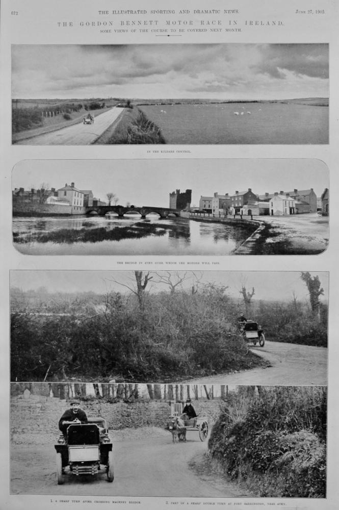 The Gordon Bennett Motor Race in Ireland.  1903.