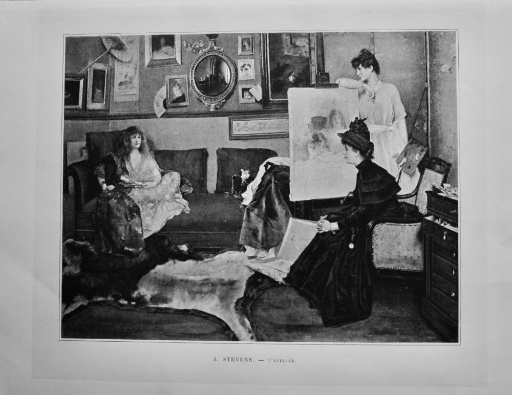 A. Stevens. -  L'Atelier.  1892.