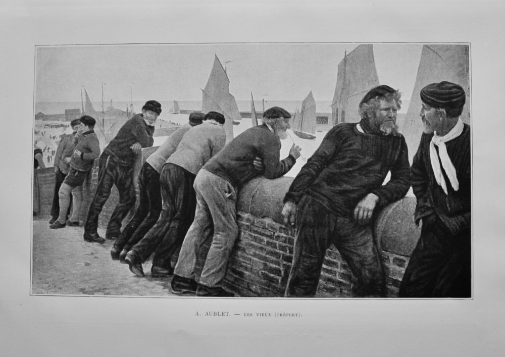 A. Aublet. - Les Vieux (Treport).  1892.