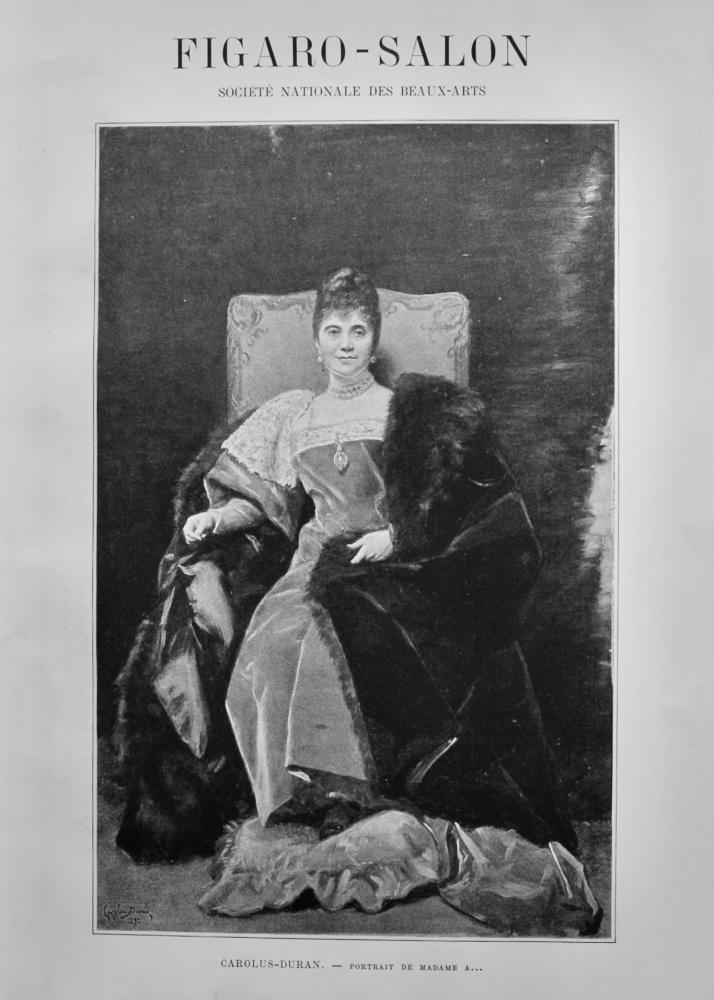 Carolus-Duran. - Portrait De Madame A...