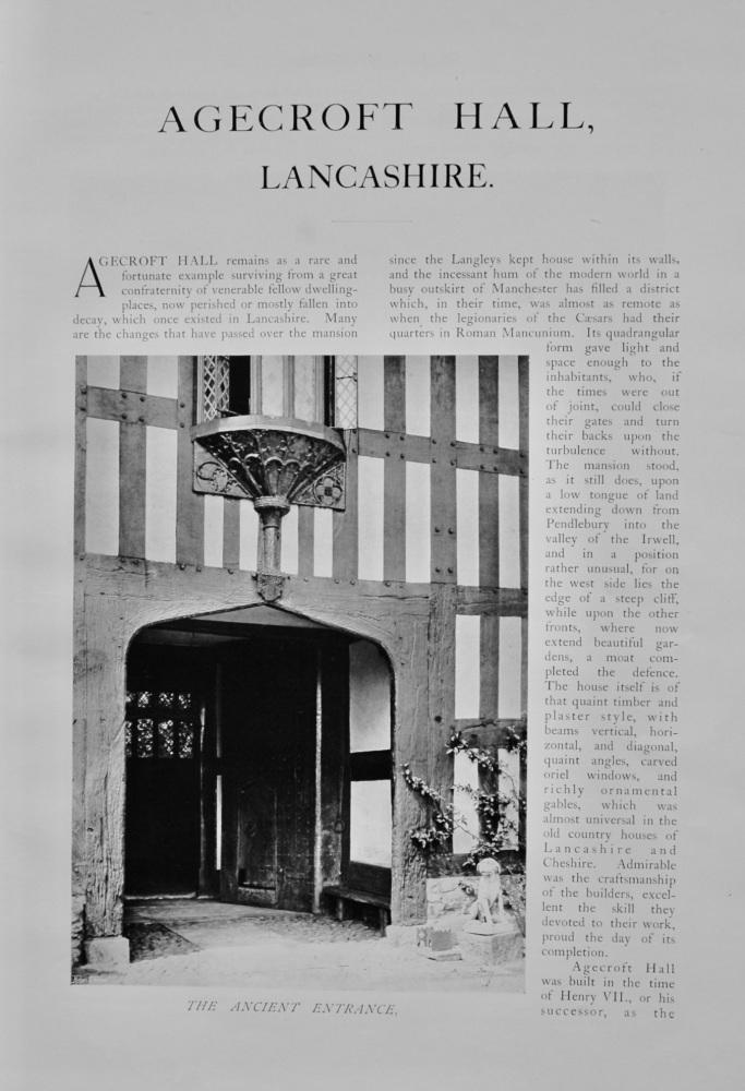 Agecroft Hall, Lancashire.  1904.