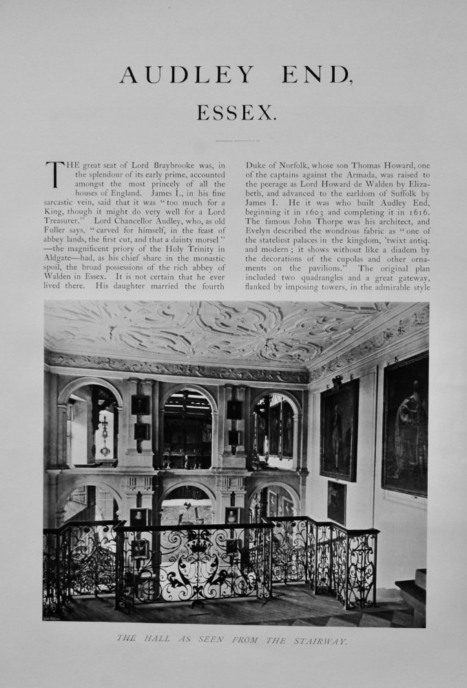 Audley End, Essex.  1904.
