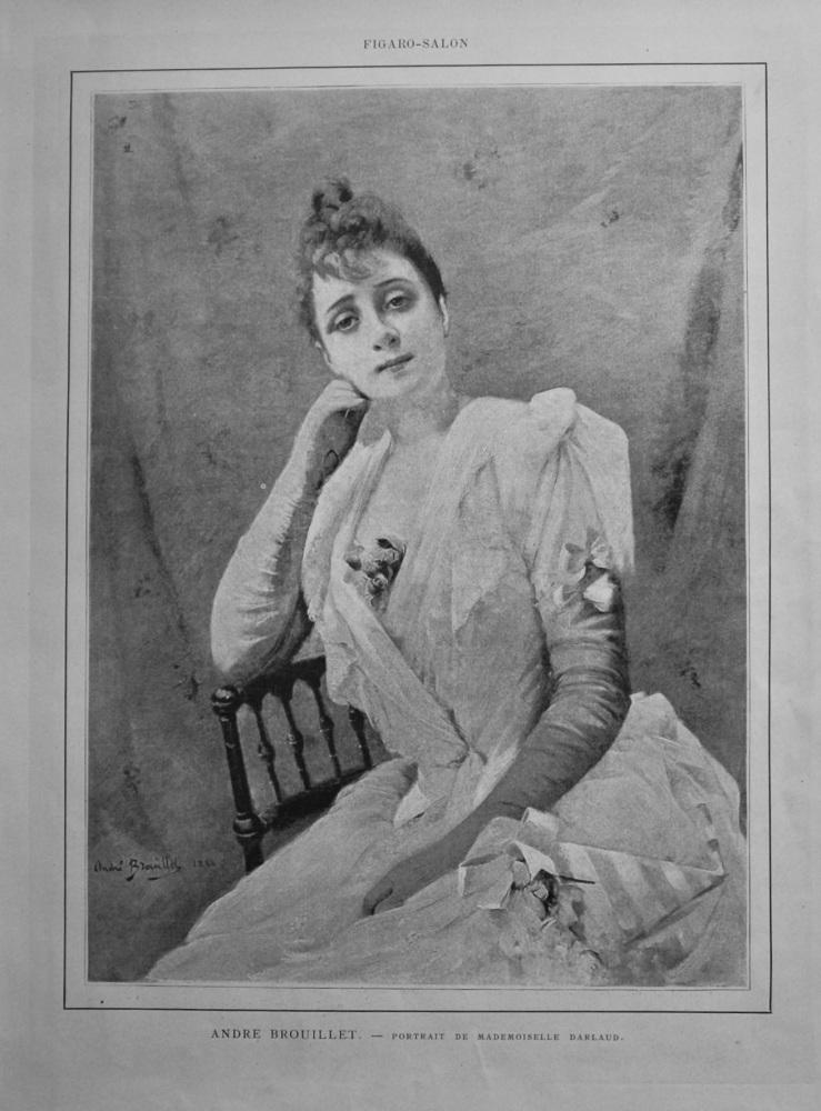 Andre Brouillet. - Portrait De Mademoiselle Darlaud.  1888.