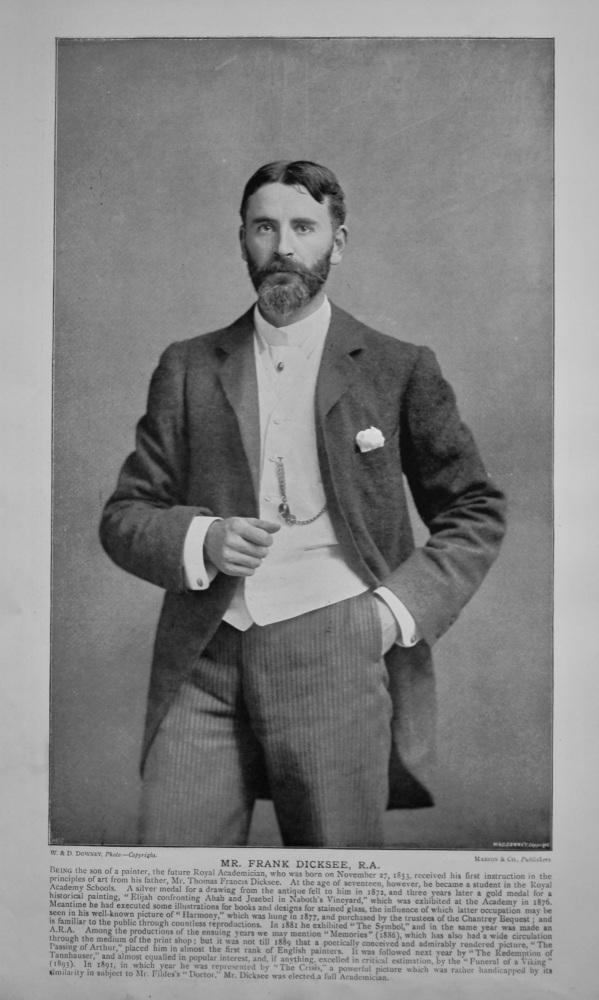 Mr. Frank Dicksee, R.A.   &   Mr. Luke Fildes, R.A.