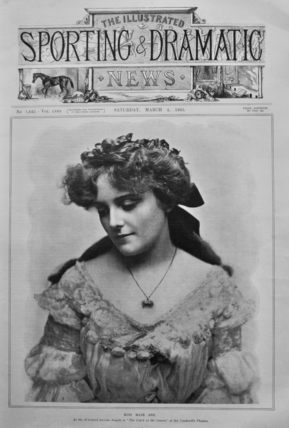 Miss Maie Ash, as the ill-treated heroine Angela in