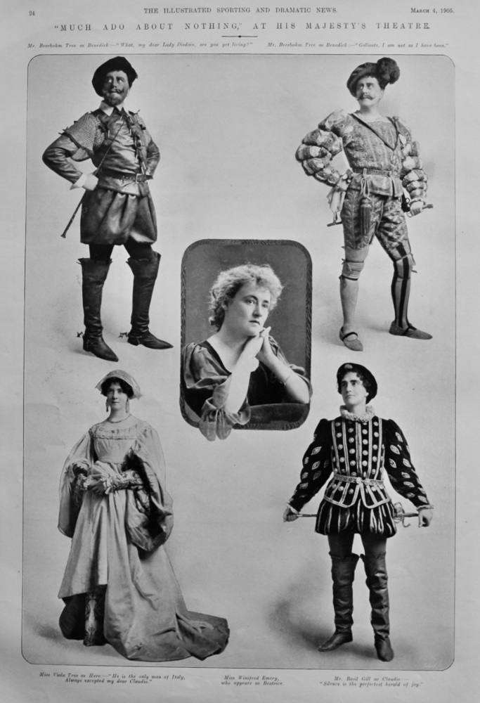 """""""Much Ado About Nothing,"""" at His Majesty's Theatre.  1905."""