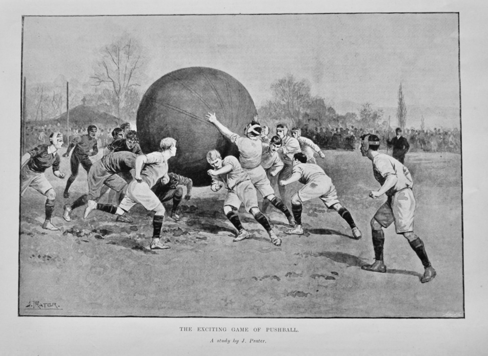 The Exciting Game of Pushball.  1905.