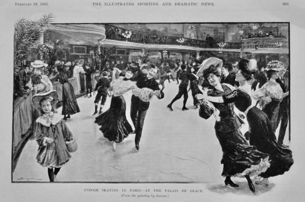 Indoor Skating in Paris.- At the Palais de Glace.  1905.