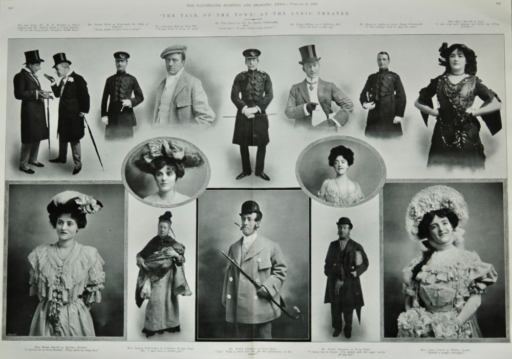 """""""The Talk of the Town,"""" at the Lyric Theatre.  1905."""