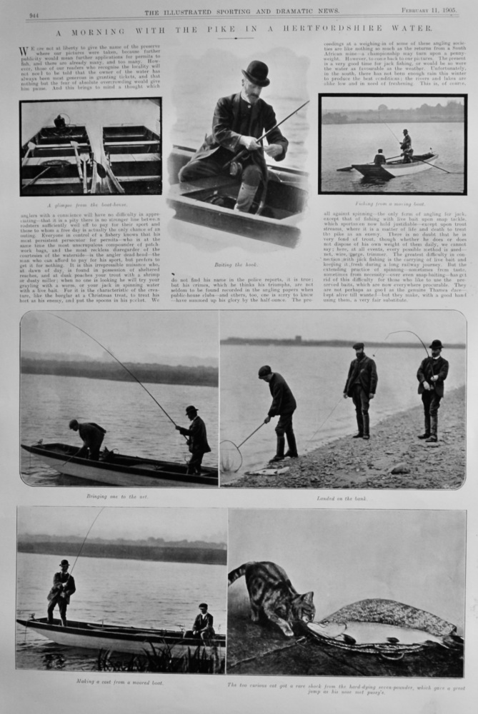 A Morning with the Pike in a Hertfordshire Water.  1905.