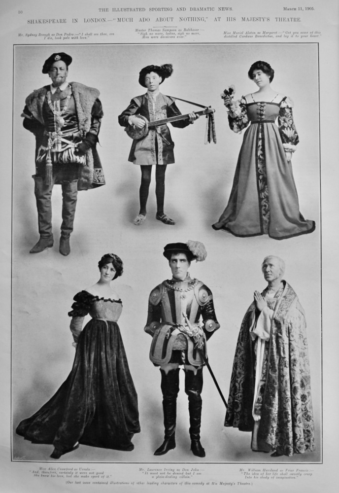 """Shakespeare in London.- """"Much Ado About Nothing,""""  At His Majesty's Theatre.  1905."""