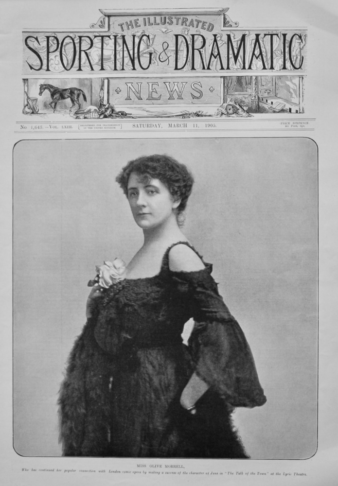 Miss Olive Morrell.  1905.