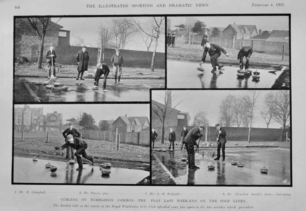 Curling on Wimbledon Common.- The Play last week-end on the Golf Links.  1905.