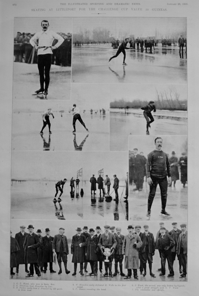 Skating at Littleport for the Challenge Cup Value 50 Guineas.  1905.