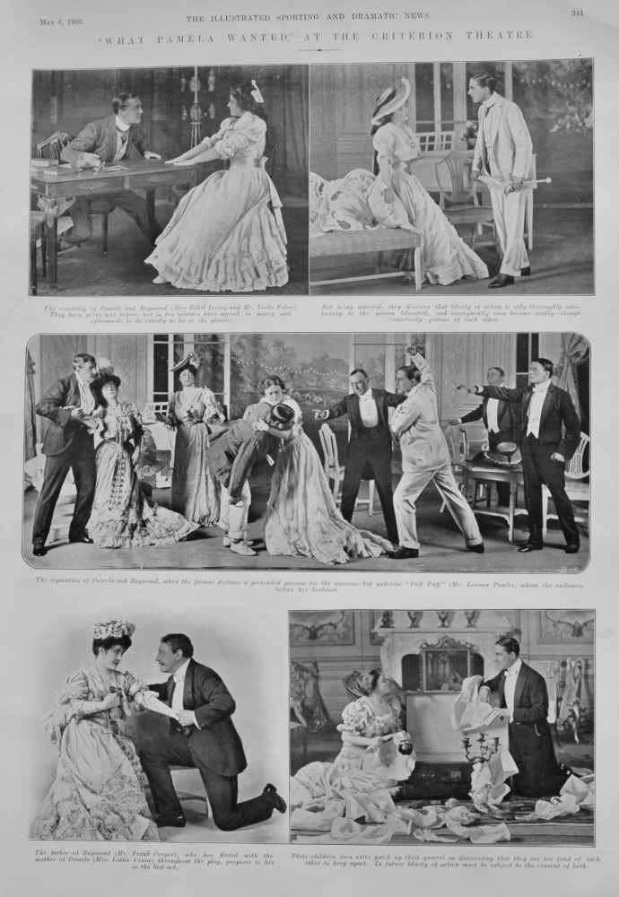 """""""What Pamela Wanted,"""" at the Criterion Theatre.  1905."""