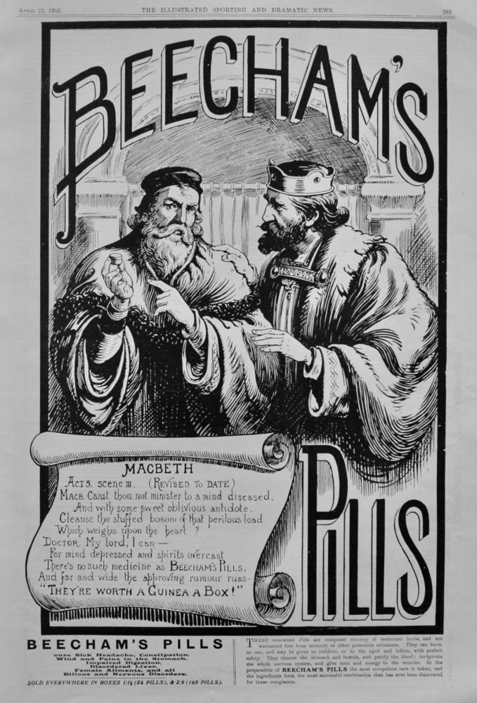 Beecham's Pills.  April 22nd, 1905.