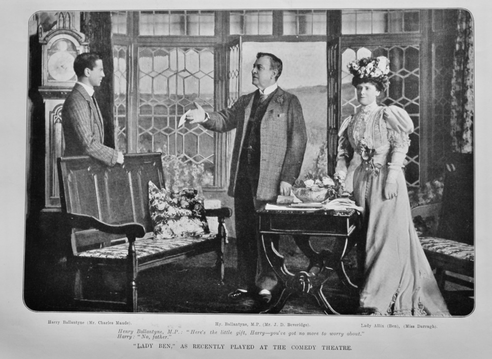 """""""Lady Ben,"""" as recently played at the Comedy Theatre.  1905."""