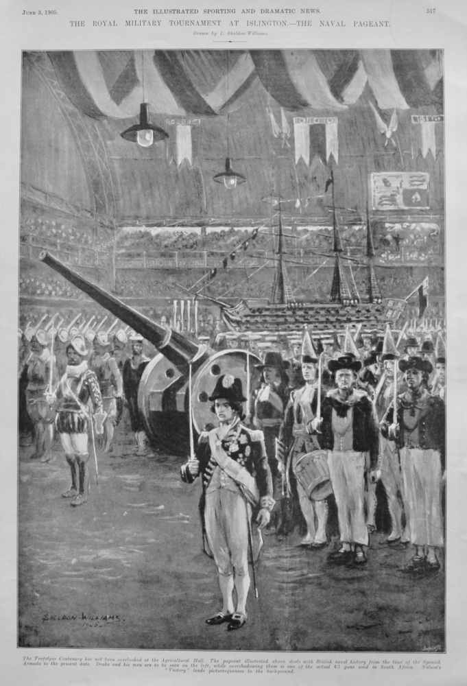 The Royal Military Tournament at Islington.- The Naval Pageant.  1905.