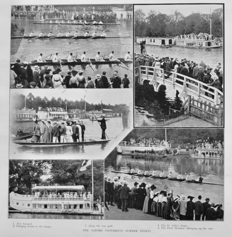 The Oxford University Summer Eights. 1905.