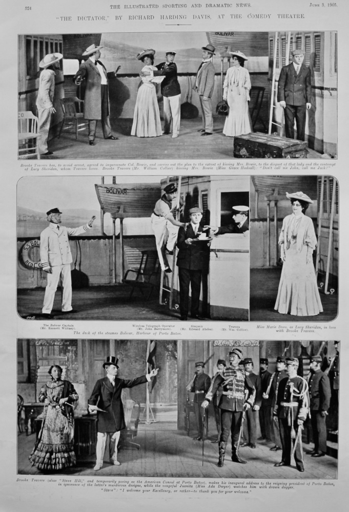 """""""The Dictator,"""" by Richard Harding Davis, at the Comedy Theatre.  1905."""