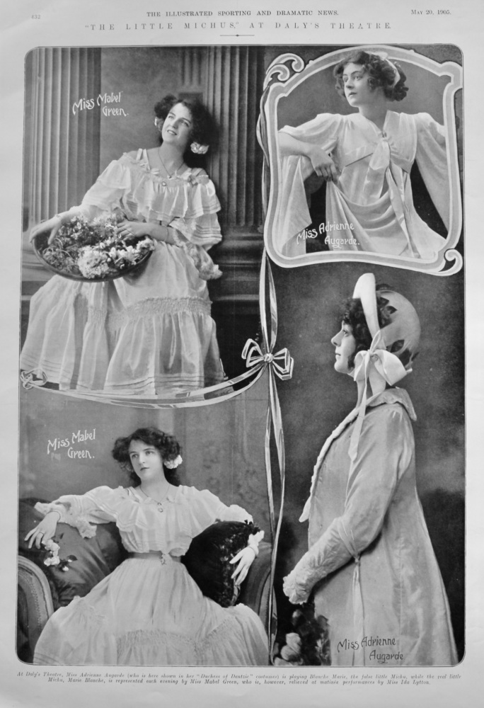 """""""The Little Michus,"""" at Daly's Theatre.  1905."""