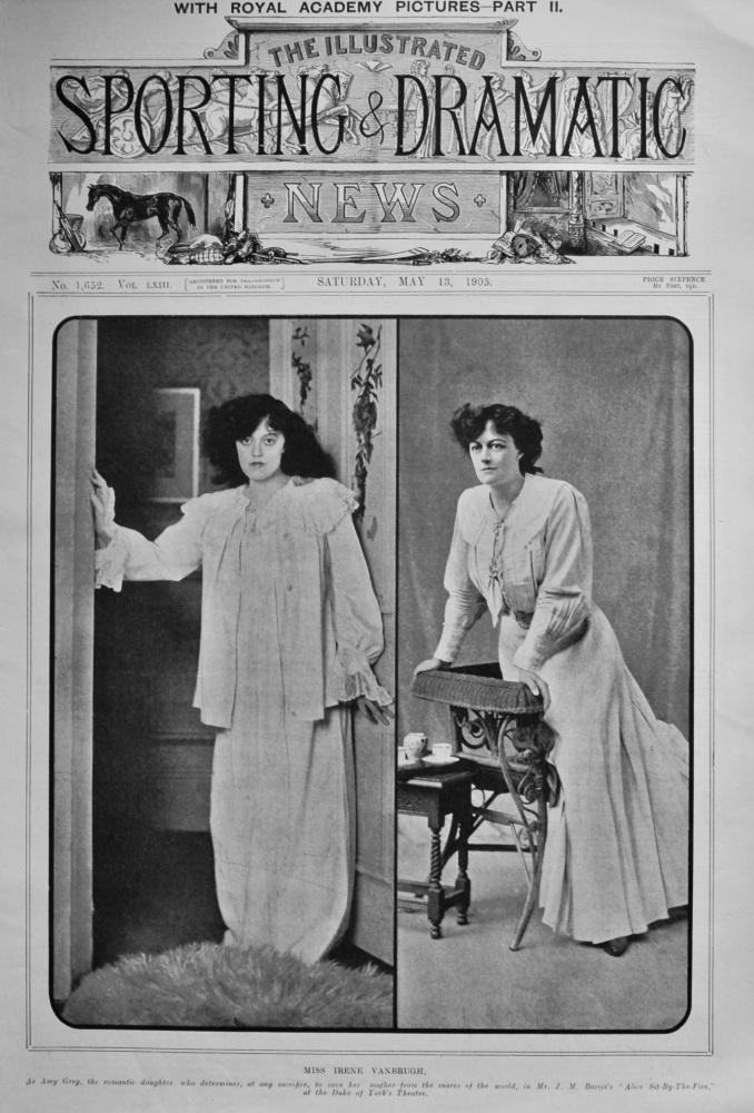 Miss Irene Vanbrugh.  1905.